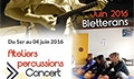 Ateliers percussions, concert, conférence